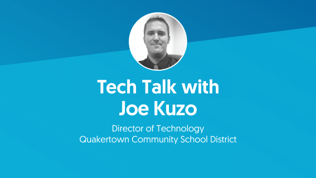 Joe Kuzo Quakertown Community School District headshot met titel